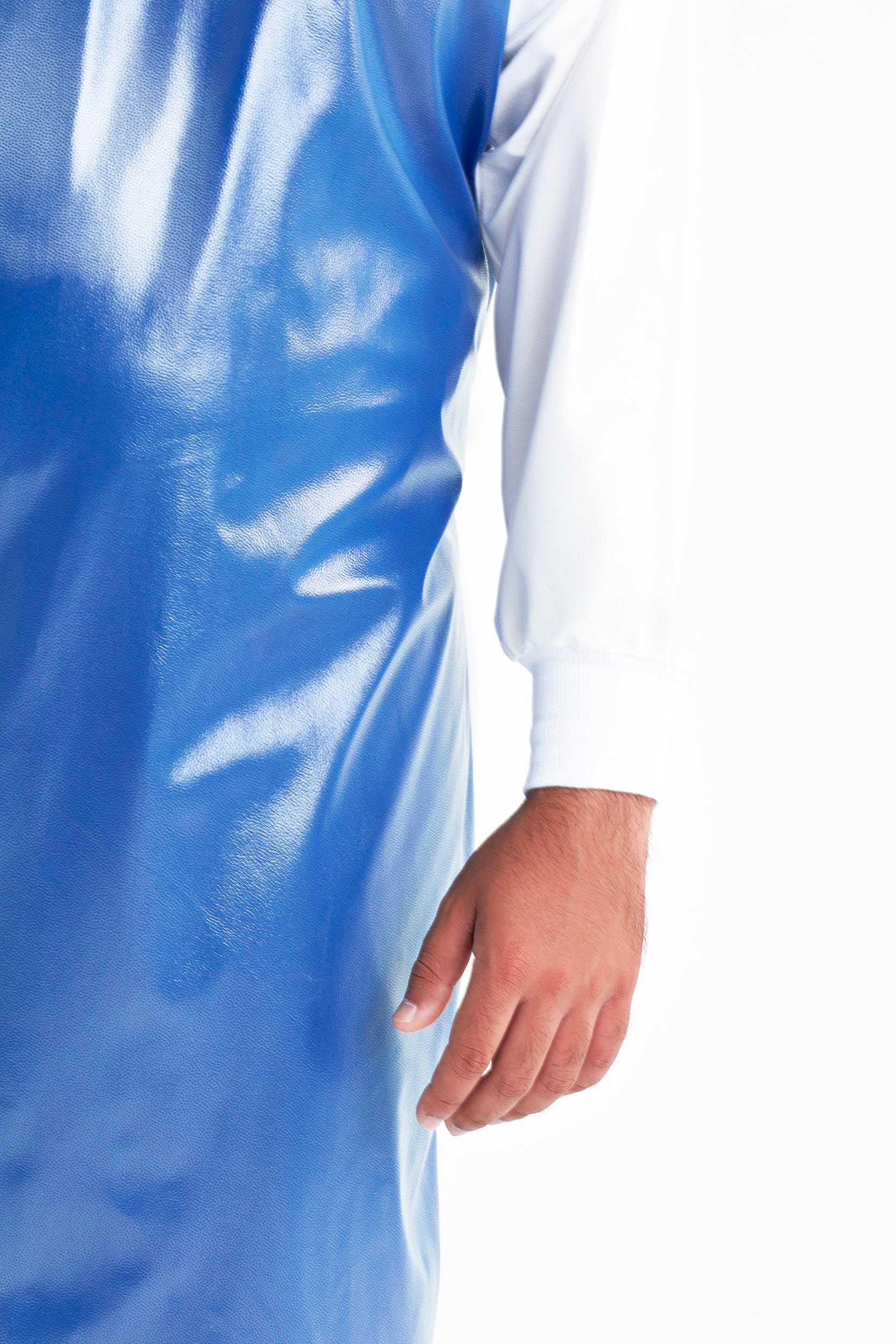 cuff-and-sleeve-display-of-royal-blue-white-reusable-level-3-gown