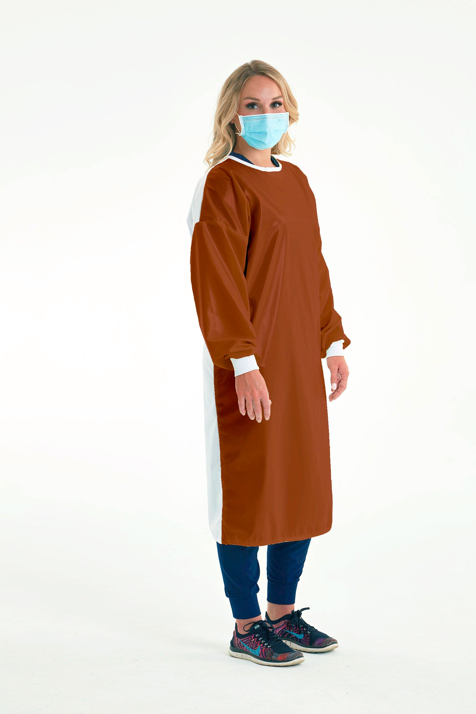 Reusable Non-Surgical Gown - Rust