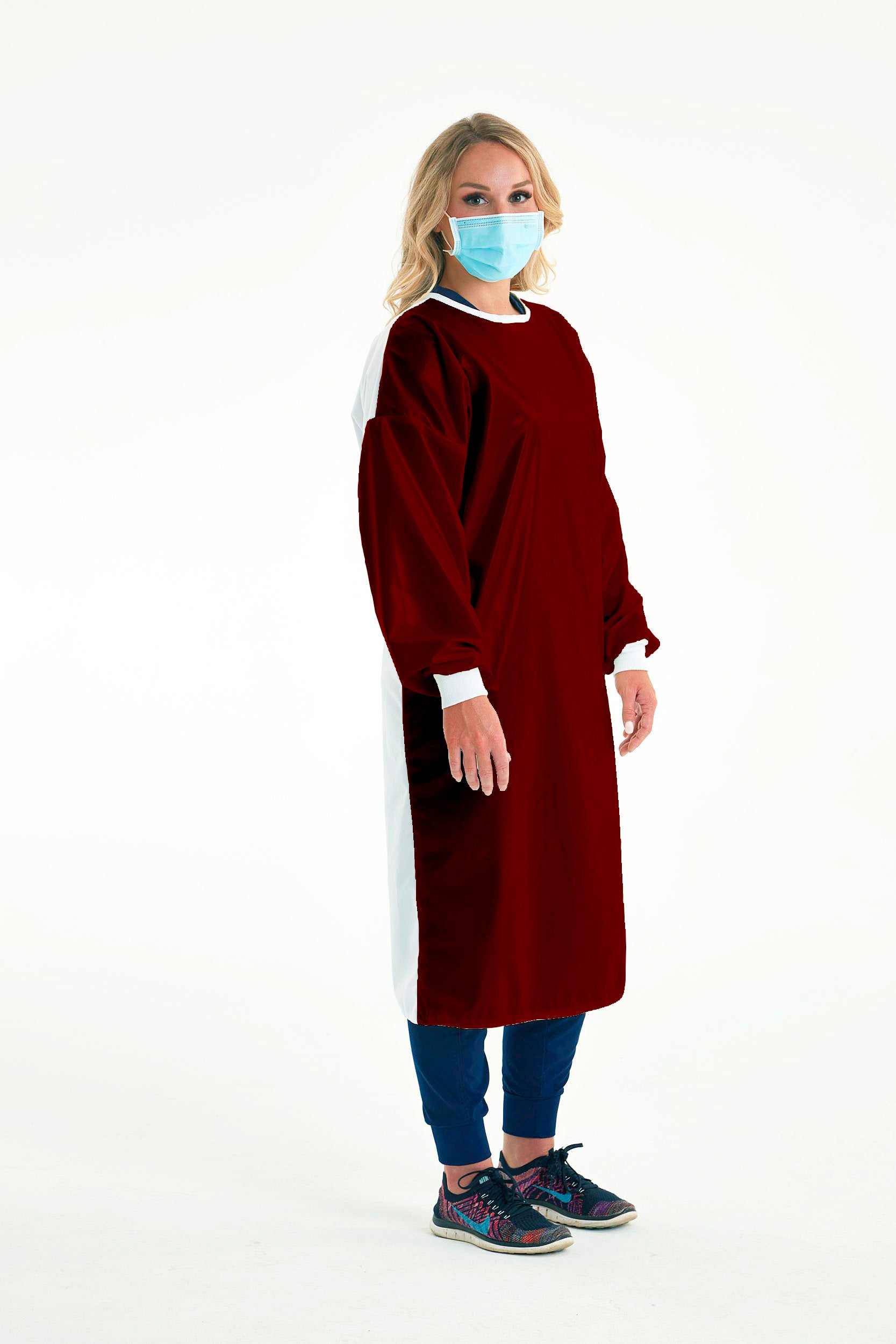 Reusable Non-Surgical Gown - Wine