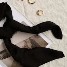 Load image into Gallery viewer, Classic Silk Scarf in Black