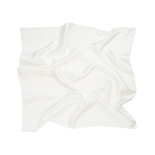 Classic Silk Scarf in Ivory