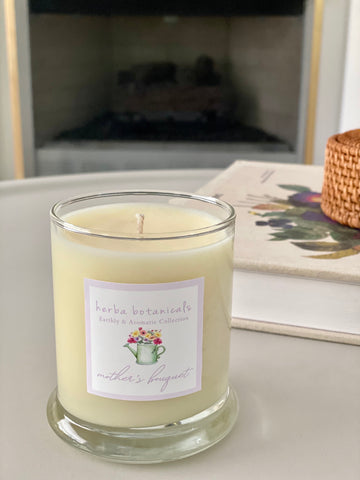 herba botanicals mother's bouquet soy candle