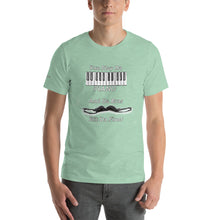 Load image into Gallery viewer, You Play Da Piano and Da Bras Hit Da Floor Short-Sleeve Unisex T-Shirt and Mp3 download of the song Da Bras Hit Da Floor