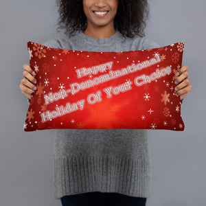 Happy Non-Denominational Holiday of Your Choice Throw Pillow and an MP3 of the Song!