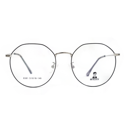 Sleek Round Eyeglasses (8381) by Mr Black - Raylite Optical Store