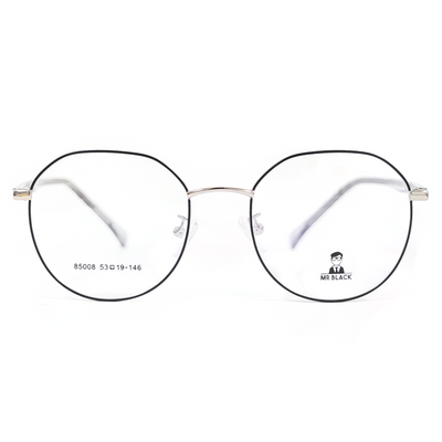 Sleek Round Eyeglasses (85008) by Mr Black - Raylite Optical Store