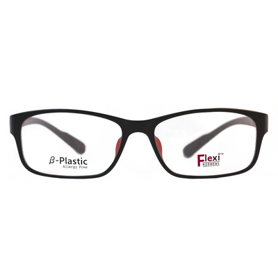 Flexi Plus Eyeglasses F3 (Black/Maroon) - Raylite Optical Store