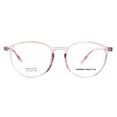Clear Pink Round Eyeglasses (8055) by KARA-MOTTO - Raylite Optical Store