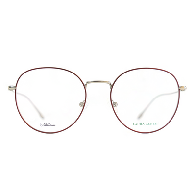 Laura Ashley Titanium Eyeglasses in Red (LA-17-680) - Raylite Optical Store