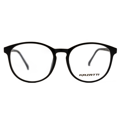 Round Eyeglasses in Matte Black (8555) by KAZATTI - Raylite Optical Store