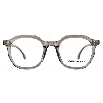 Oblique Eyeglasses in Clear Grey (8536) by KAZATTI - Raylite Optical Store
