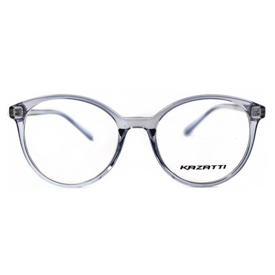 Round Eyeglasses in Clear Cool Grey (TR8543) by KAZATTI - Raylite Optical Store