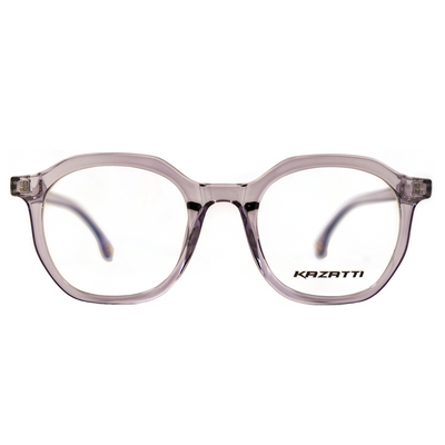 Oblique Eyeglasses in Clear Lavender (8536) by KAZATTI - Raylite Optical Store
