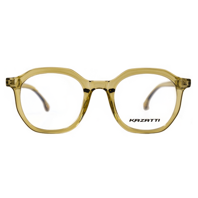 Oblique Eyeglasses in Clear Mellow (8536) by KAZATTI - Raylite Optical Store