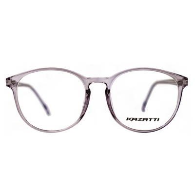 Round Eyeglasses in Clear Lavender (8555) by KAZATTI - Raylite Optical Store