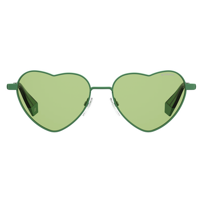 Polaroid Heart Sunglasses (PLD 6124/S) in Green - Raylite Optical Store