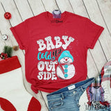Baby It's Cold Outside Snowman Shirt - mvptshirt