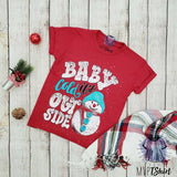 Baby It's Cold Outside Snowman Youth - mvptshirt