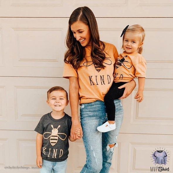 Bee Kind - Mom and Me Shirts - mvptshirt