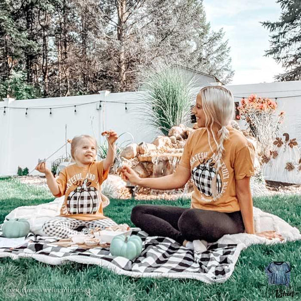 Plaid pumpkin graphic tees - mvptshirt