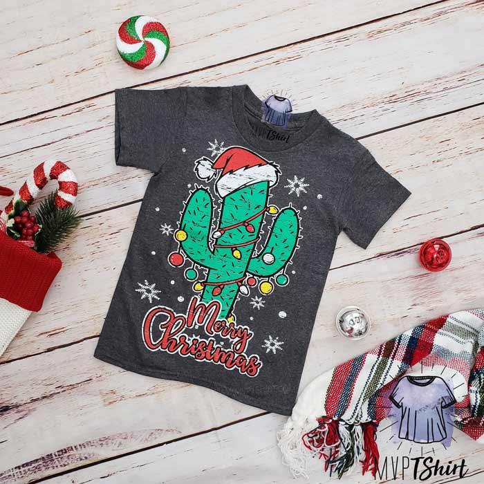 Kids Cactus Shirt for Christmas - mvptshirt