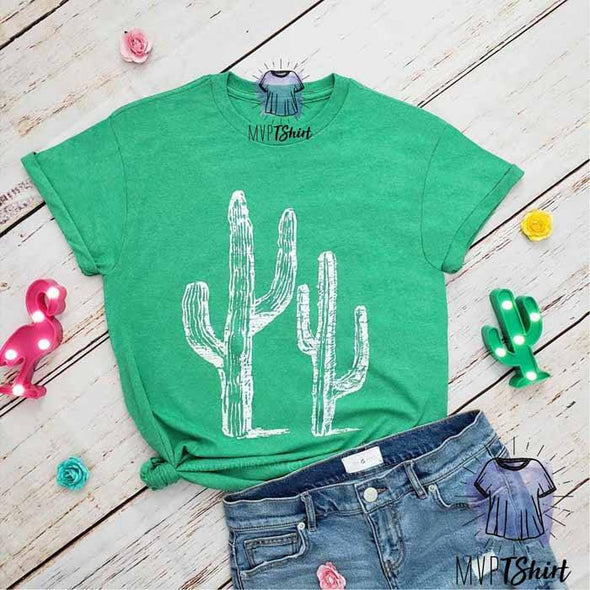 Cactus kelly heather Tee - mvptshirt