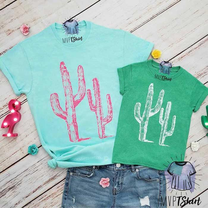 Cactus Mommy and Me Outfits - mvptshirt
