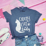 Crazy Cat Lady Women Tee - mvptshirt