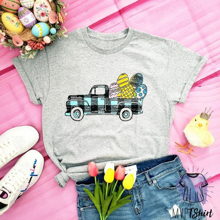 Easter Truck Graphic Tees - mvptshirt