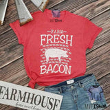 Farm Fresh Bacon Pig Tee - mvptshirt