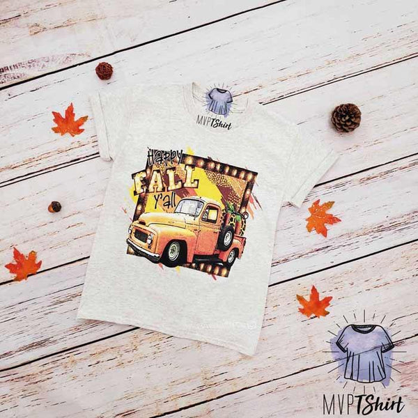 Happy Fall Y'all Pumpkin Youth Tee - mvptshirt