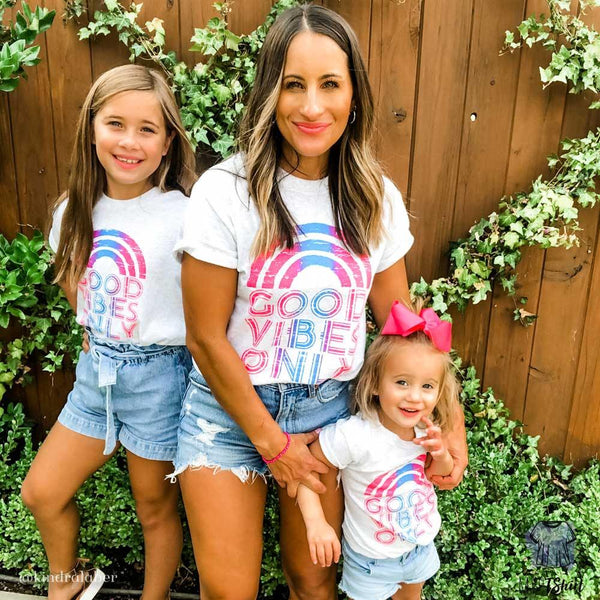 Good Vibes Only Mom and Me Sets - mvptshirt