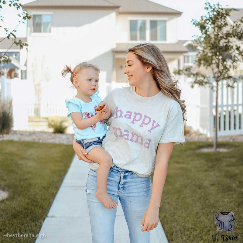 Happy Mama Graphic Top - mvptshirt