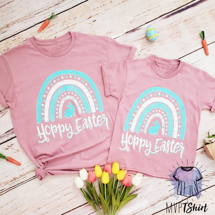Hoppy Easter Matching Shirt - mvptshirt