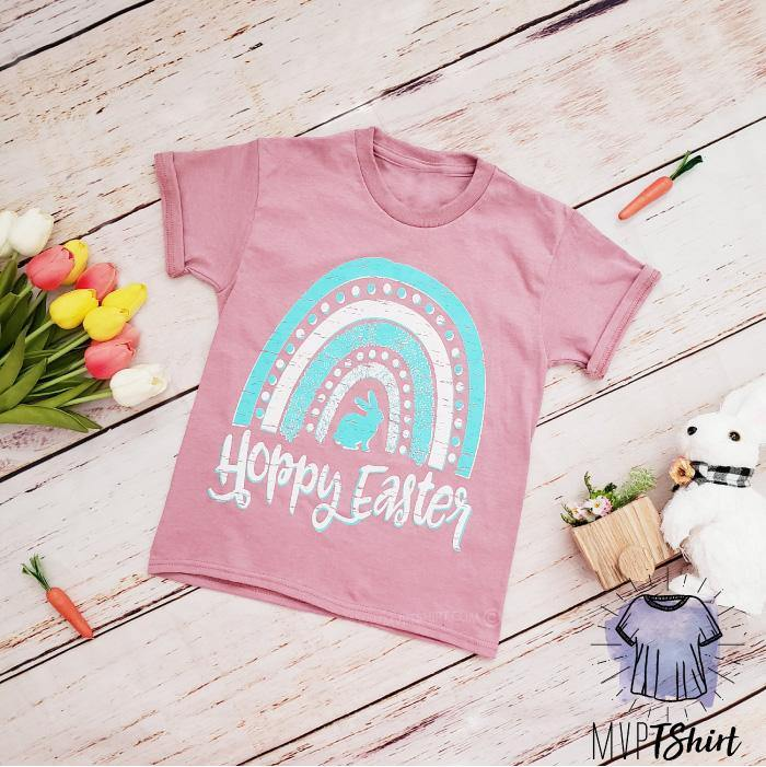 Hoppy Easter Youth Shirt - mvptshirt