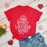 Hugs Kisses Valentine Wishes Shirt - mvptshirt