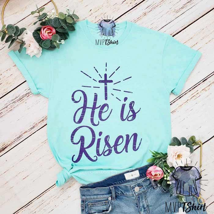 He is Risen Christian Tee - mvptshirt