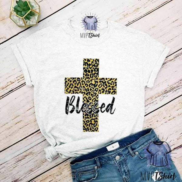 Blessed Cross, Leopard print Shirt - mvptshirt
