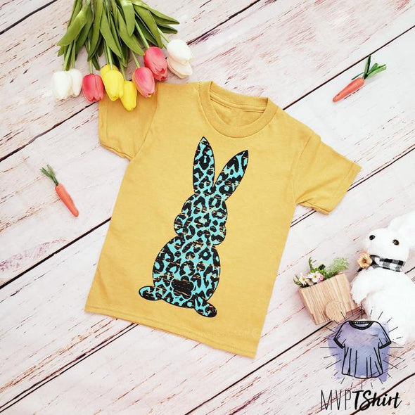 Leopard Bunny Youth Shirt - mvptshirt
