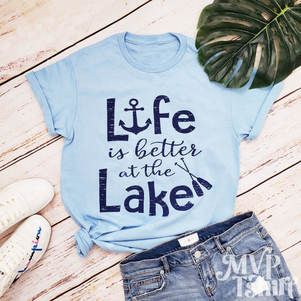 Life Is Better At The Lake Shirt - Summer Outdoors - Mvptshirt