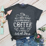 Coffee and Jesus shirt - mvptshirt