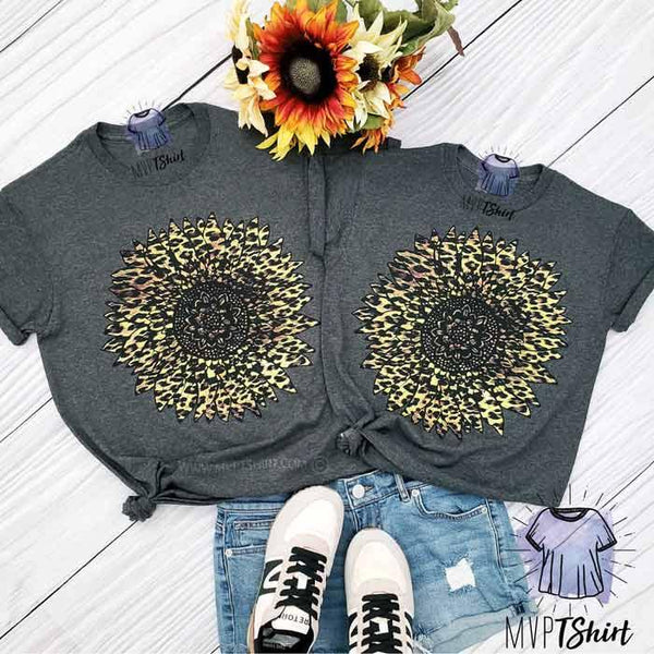 Leopard Sunflower Mommy & Me outfit - mvptshirt
