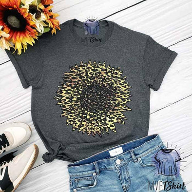 Leopard Sunflower T-shirt - Mvptshirt