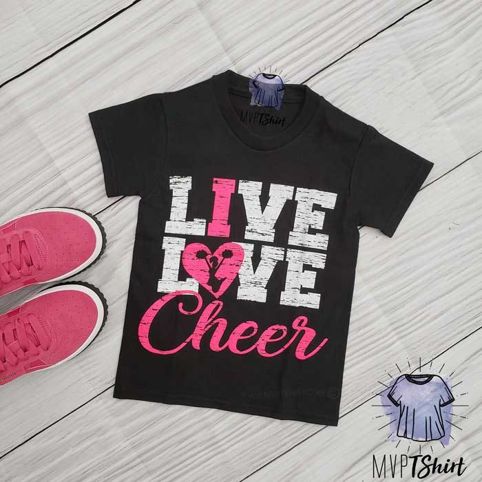Live Love Cheer Shirt - mvptshirt