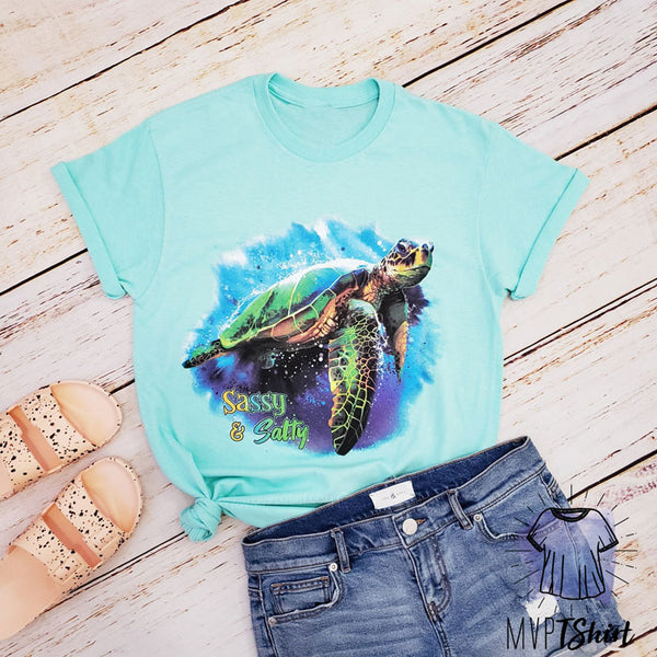 Sassy and Salty Sea Turtle Shirt - mvptshirt