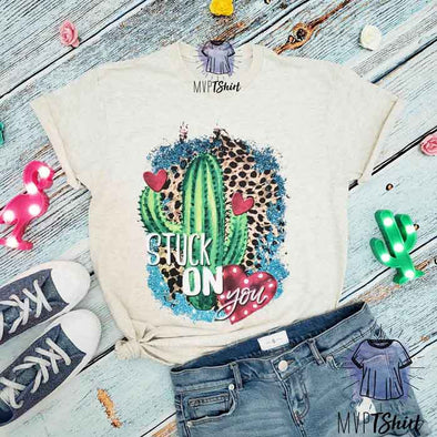 Stuck on You Cactus Shirt - mvptshirt