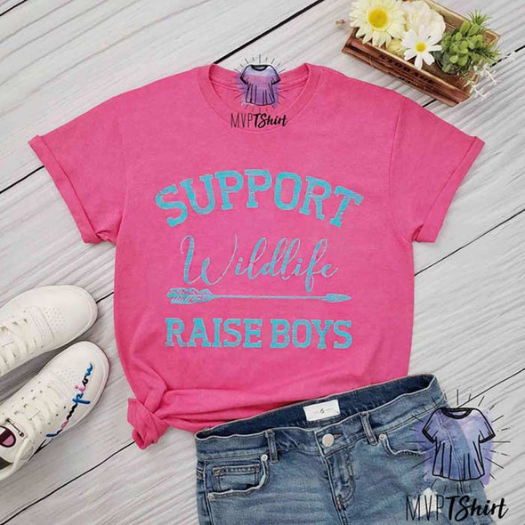 Support Wildlife Raise Boys Tee - mvptshirt