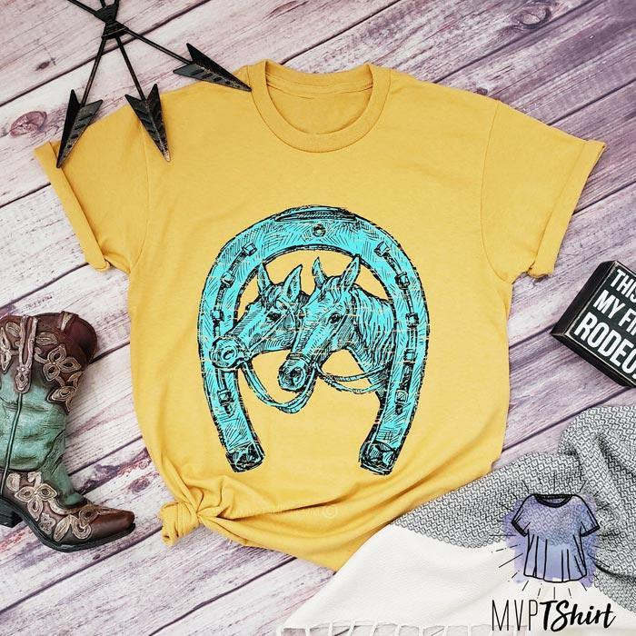 Horse with Horseshoe Shirt - mvptshirt