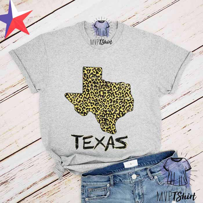 Texas Leopard Map Shirt - mvptshirt