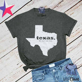 Texas Lone Star State Map Tee - mvptshirt